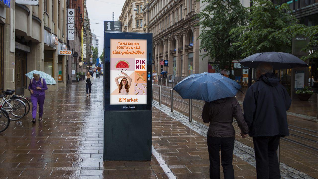 K-marketin säädynaaminen kesäkampanja