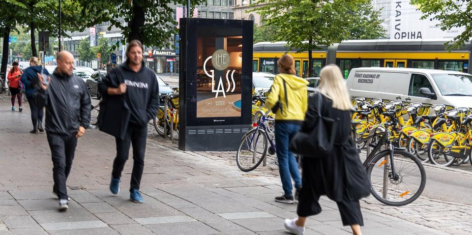 The Glass ohjasi ruokakulttuurin ystäviä ravintolaansa dynaamisella etäisyyttä mittaavalla ulkomainoskampanjalla
